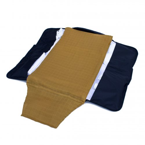 2 Pack Muslin Cloth - Curry/White