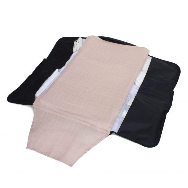 2 Pack Muslin Cloth - Rose/White